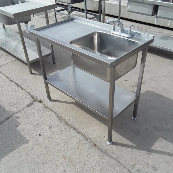 Single catering sink for sale with mixer tap