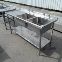 Double bowl catering sink