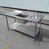 Deep commercial sink with hand wash