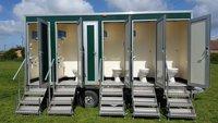 Ex hire toilet trailer