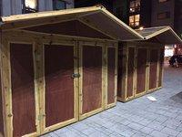 Christmas market huts