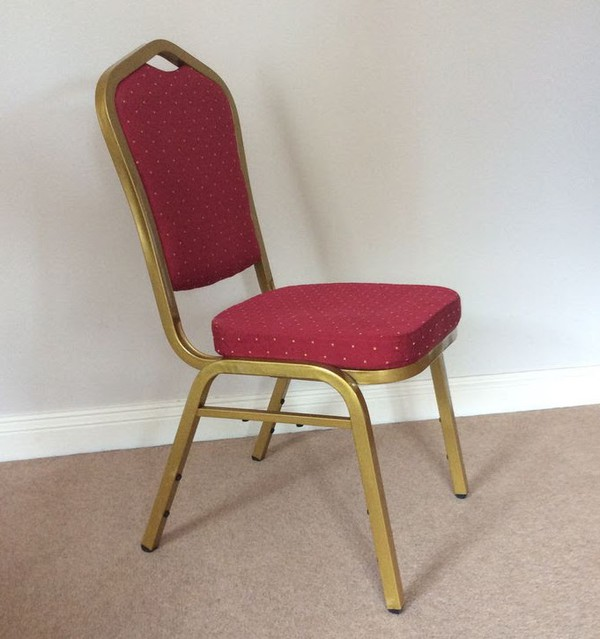 248x High Quality Red and Gold  Banqueting Chairs