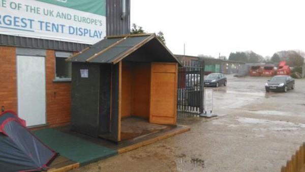 xmas market huts