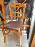 Solid wood bistro chair
