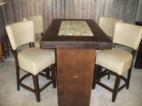 Poseur Table and 4 Chairs (CODE T 1542P)