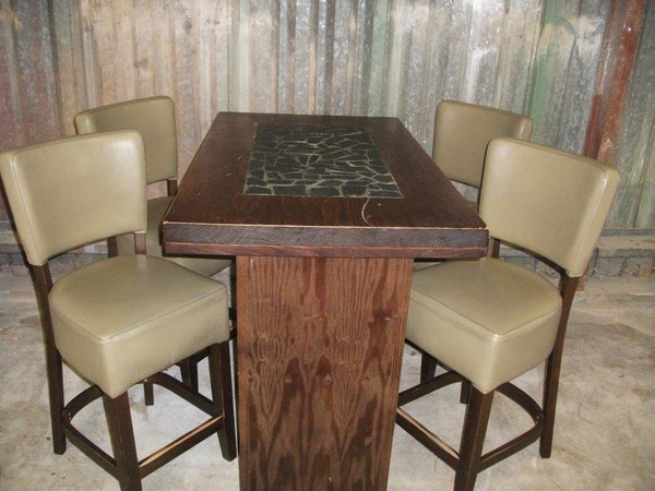 Poseur Table and 4 Chairs (CODE T 1543P)