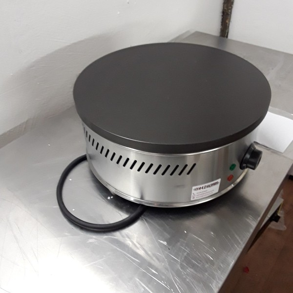 Crepe Maker HCM-400 Stainless Steel Table Top Single Crepe Pancake Griddle