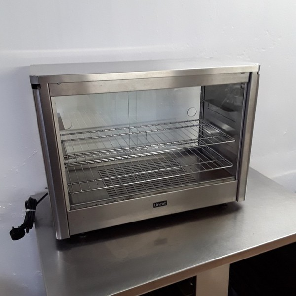 Used Lincat LPW Stainless Steel Table Top Hot Heated Pie Food Cabinet Warmer