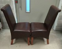 Real leather dining chair for restaurants