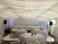 8m wide wedding marquee