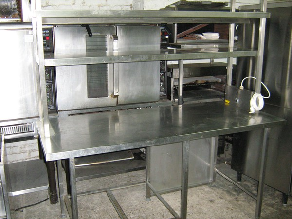 Stainless Steel Table with Double Heated Gantry