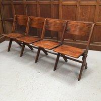 1930's oak folding benches