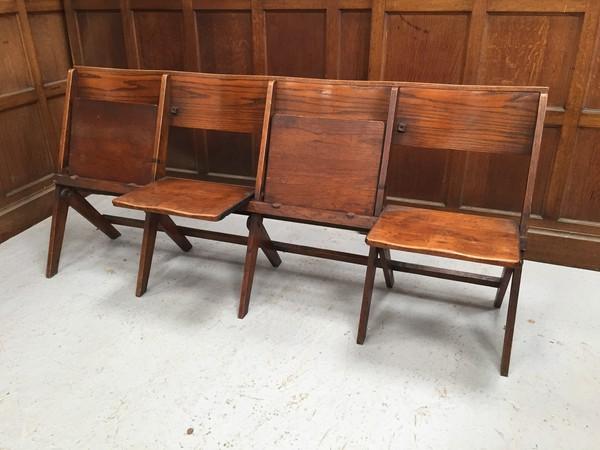 Oak folding bench