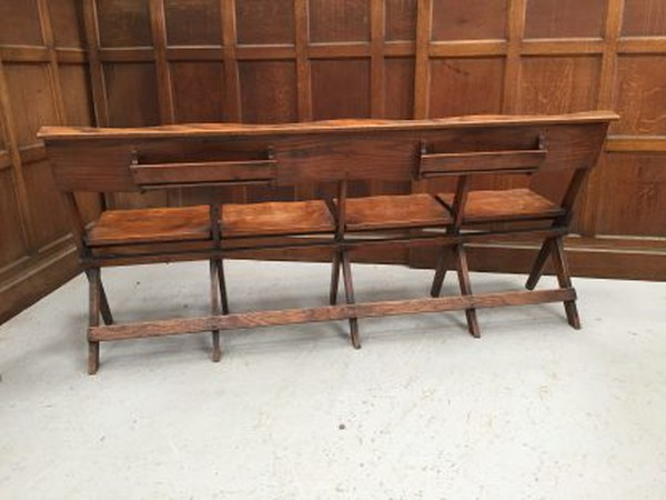 Vintage folding benches