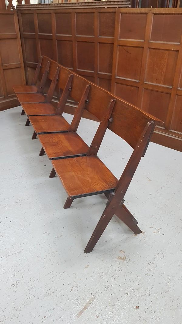 1930's Vintage  oak church benches