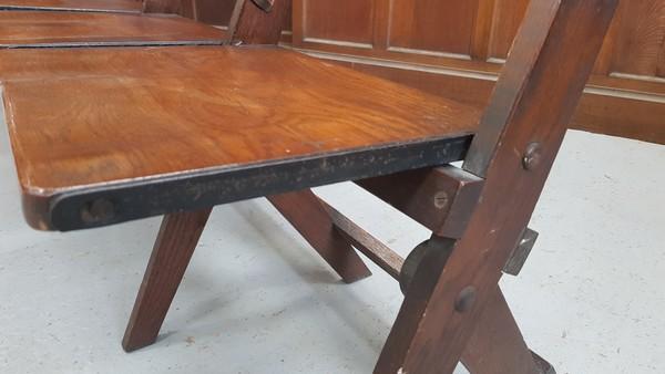 Oak vintage church benches