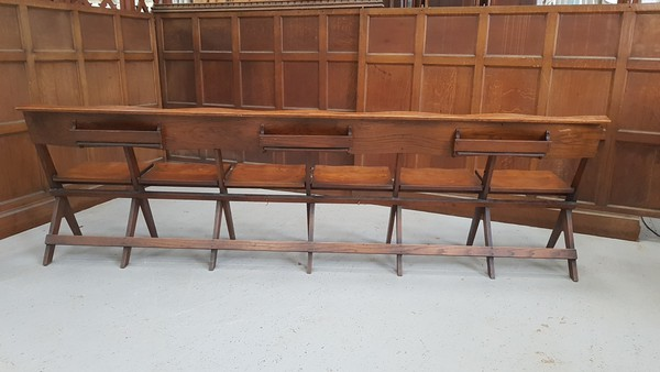 six seat oak benches for sale