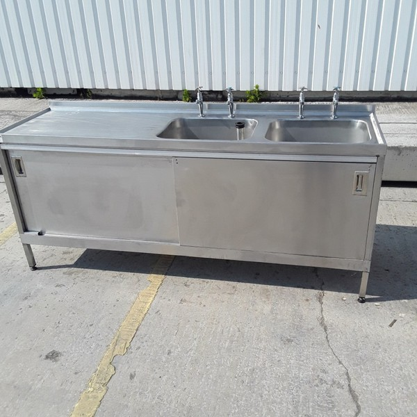 Double sink cabinet for sale