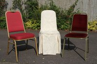 Steel Framed Chairs with Matching Covers and Serviettes
