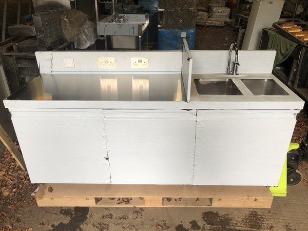 Brand new stainless steel counter/sink unit