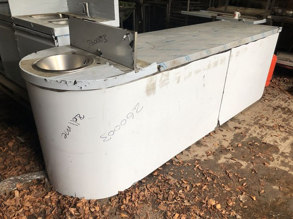 Stainless Steel Curved Counter