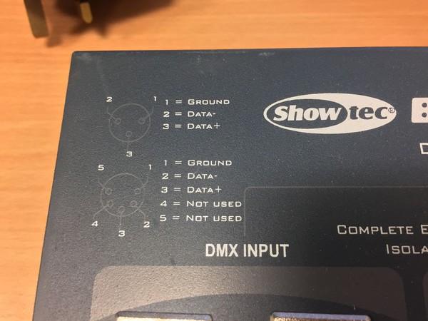 DMX cable connections