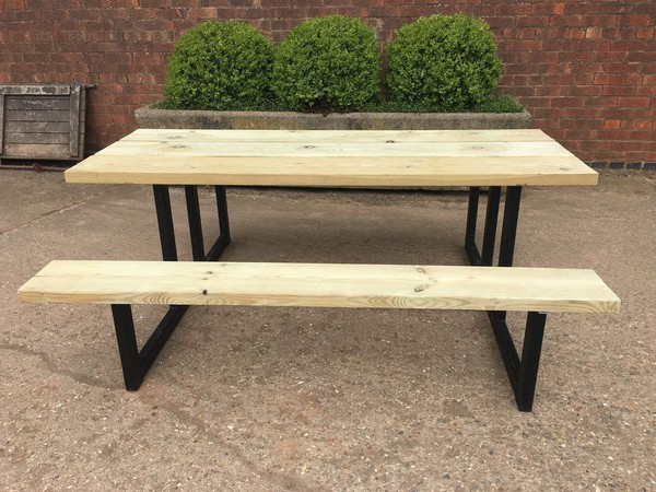 Industrial bench and tables for sale