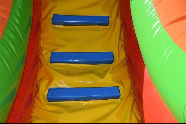 Inflatable slide and course