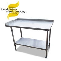 Stainless steel table with undercounter shelf