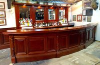 Curved reclaimed bar