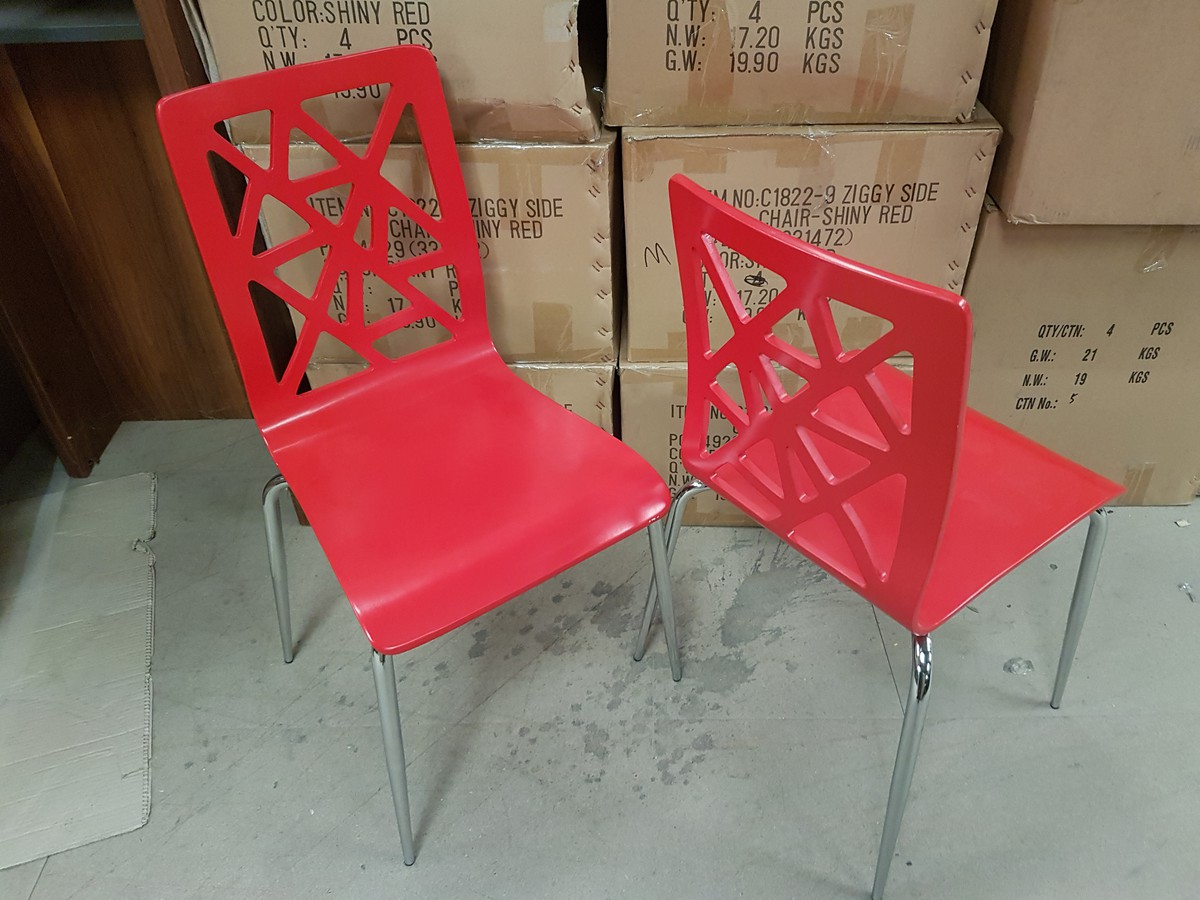 Fabulous 35X New Red Ziggy Chairs Derby Derbyshire Interior Design Ideas Clesiryabchikinfo