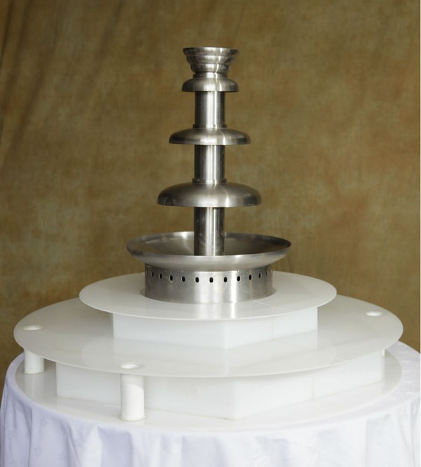 Commercial Chocolate Fountain with illuminated surround