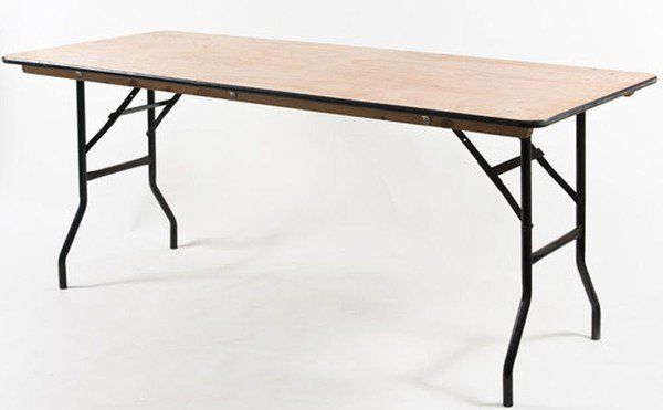 Plywood trestle tables for sale
