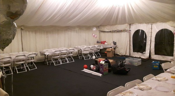 9m Hoecker marquee for sale