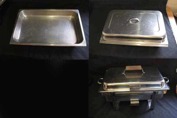 Total of 60 Serving Dishes, Oval Flats and Food Warmers
