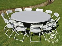 Dancover Light Grey Fold Resin Round 183cm Table