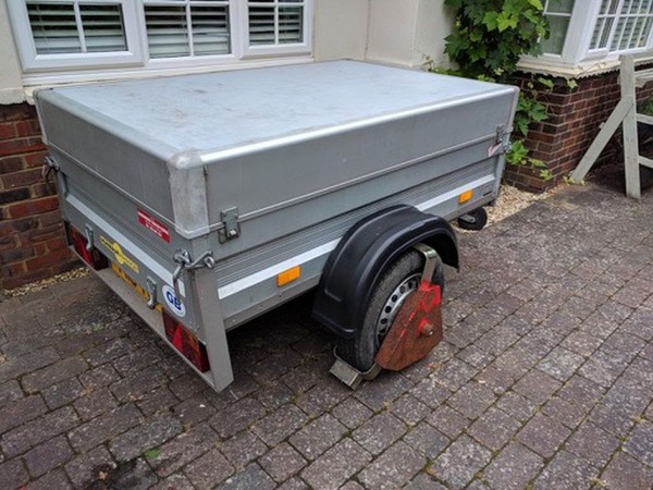 Used camping trailer