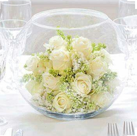 Gold fish bowl table decoration