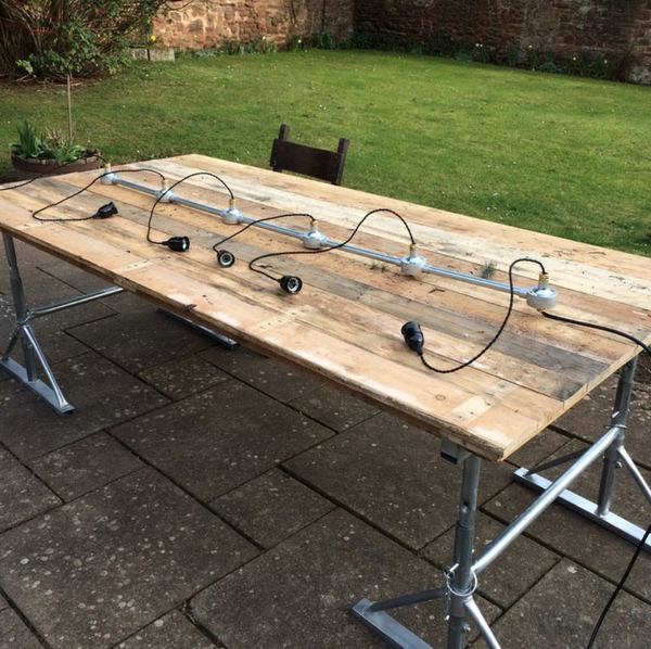 Large upcycled pallet tables
