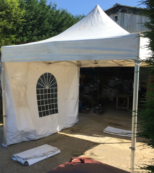 3m x 3m Kart pit marquee