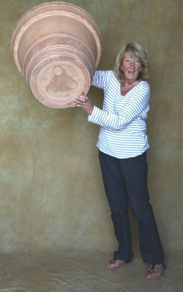 Giant flower pot prop.
