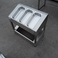Stainless steel pizza salsd display