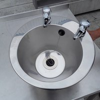 Stainless steel table top hand sink