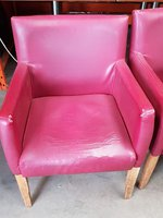 burgundy tub chairs