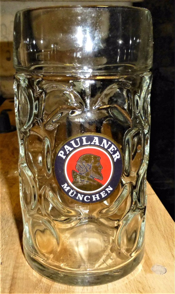 Secondhand beer glasses