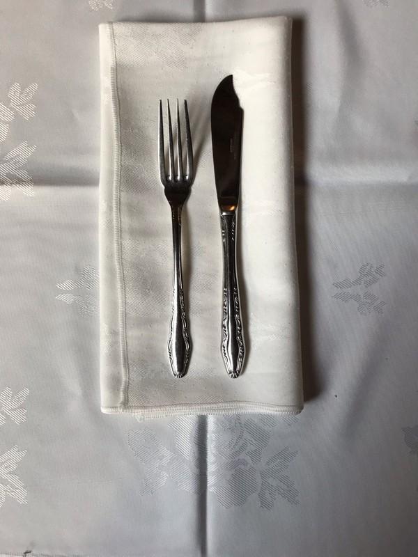 Fish knife and fork - Crusader patten