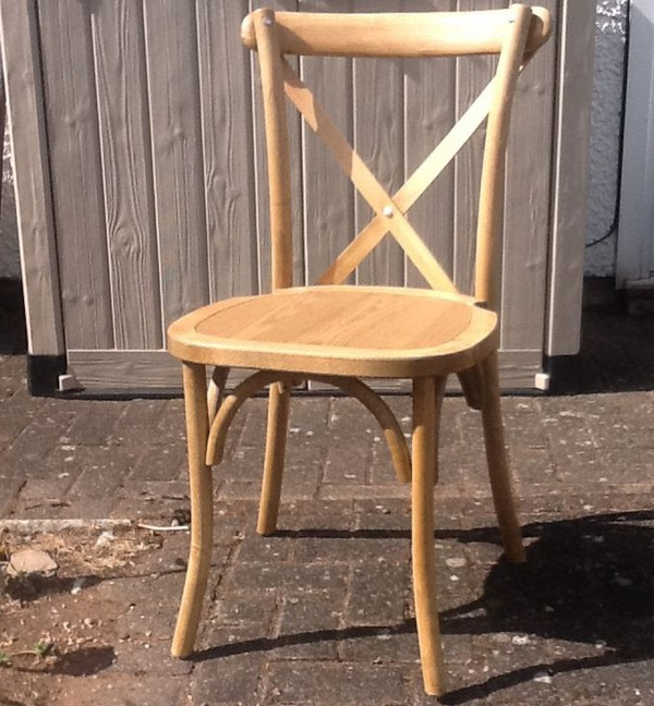 Vintage oak cross back chair
