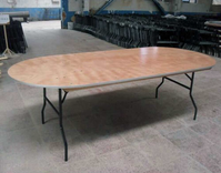 Oval trestle tables for sale