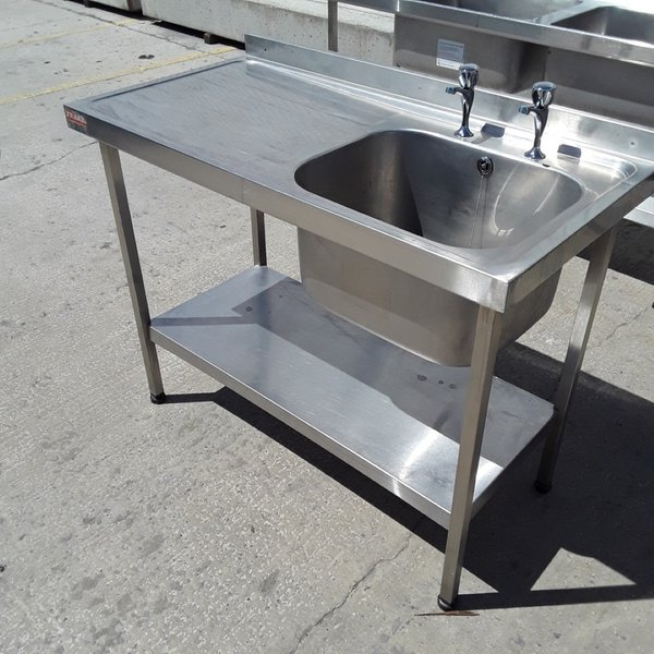 Used Franke Stainless Steel Single Bowl Sink Drainer Shelf (6763)