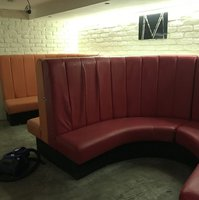 Contrasting Booth/ Banquette Seating